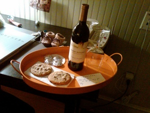 wine and cookies