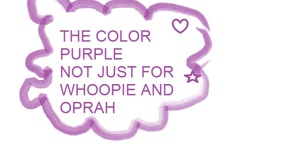 I should try to remember that wearing purple can be iffy