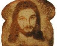 It's Jesus!  In toast!  Brilliant.