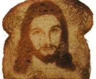 It's Jesus!  In toast!  Brilliant.